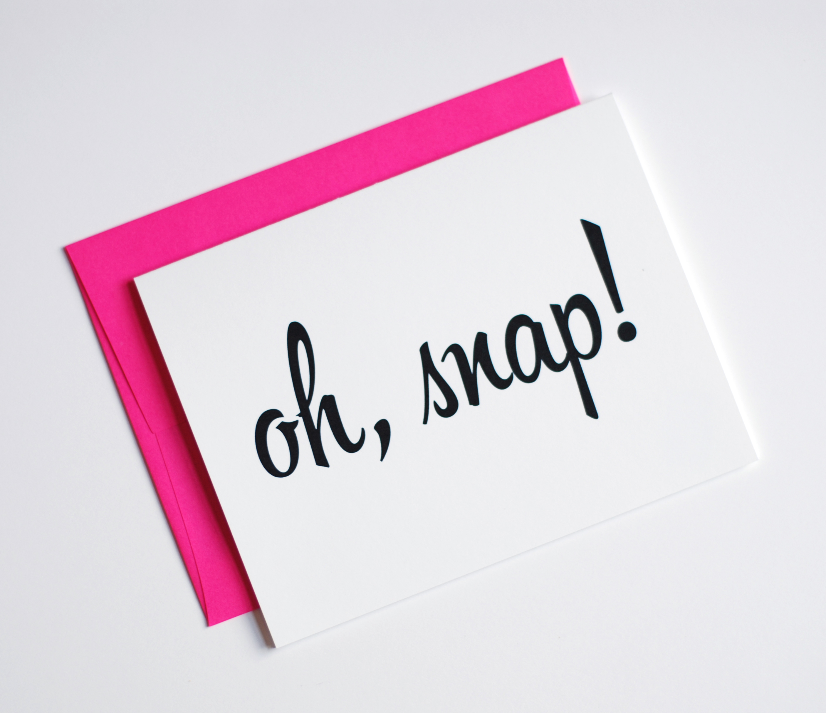 Oh Snap Card - Congrats Card - Neon Pink - Congratulations Card · Row ...: rowhouse14.storenvy.com/collections/190844-just-for-fun/products...