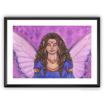 Pensive Fairy (original painting) medium photo