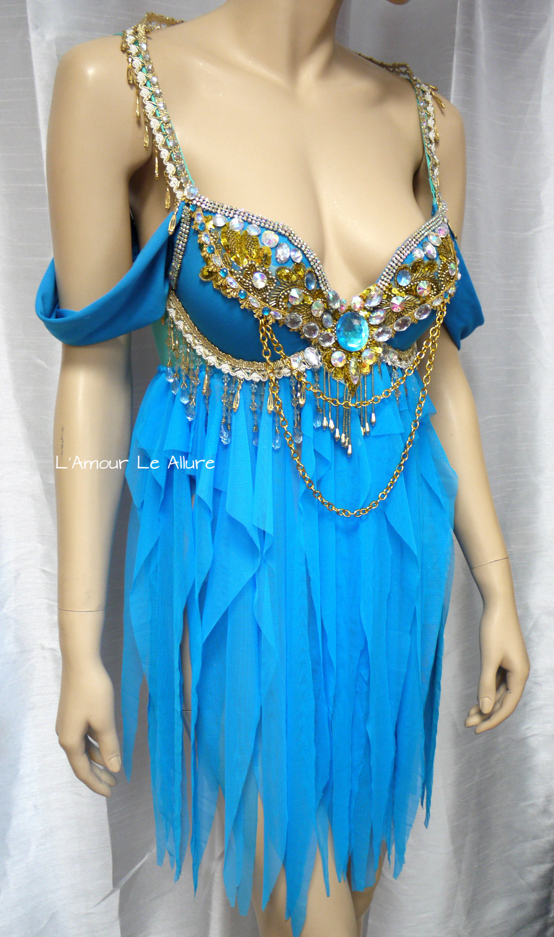 Princess Jasmine Babydoll Dress Cosplay Dance Costume Rave Bra Rave Wear Halloween Burlesque Show Girl ... & Princess Jasmine Babydoll Dress Cosplay Dance Costume Rave Bra Rave ...
