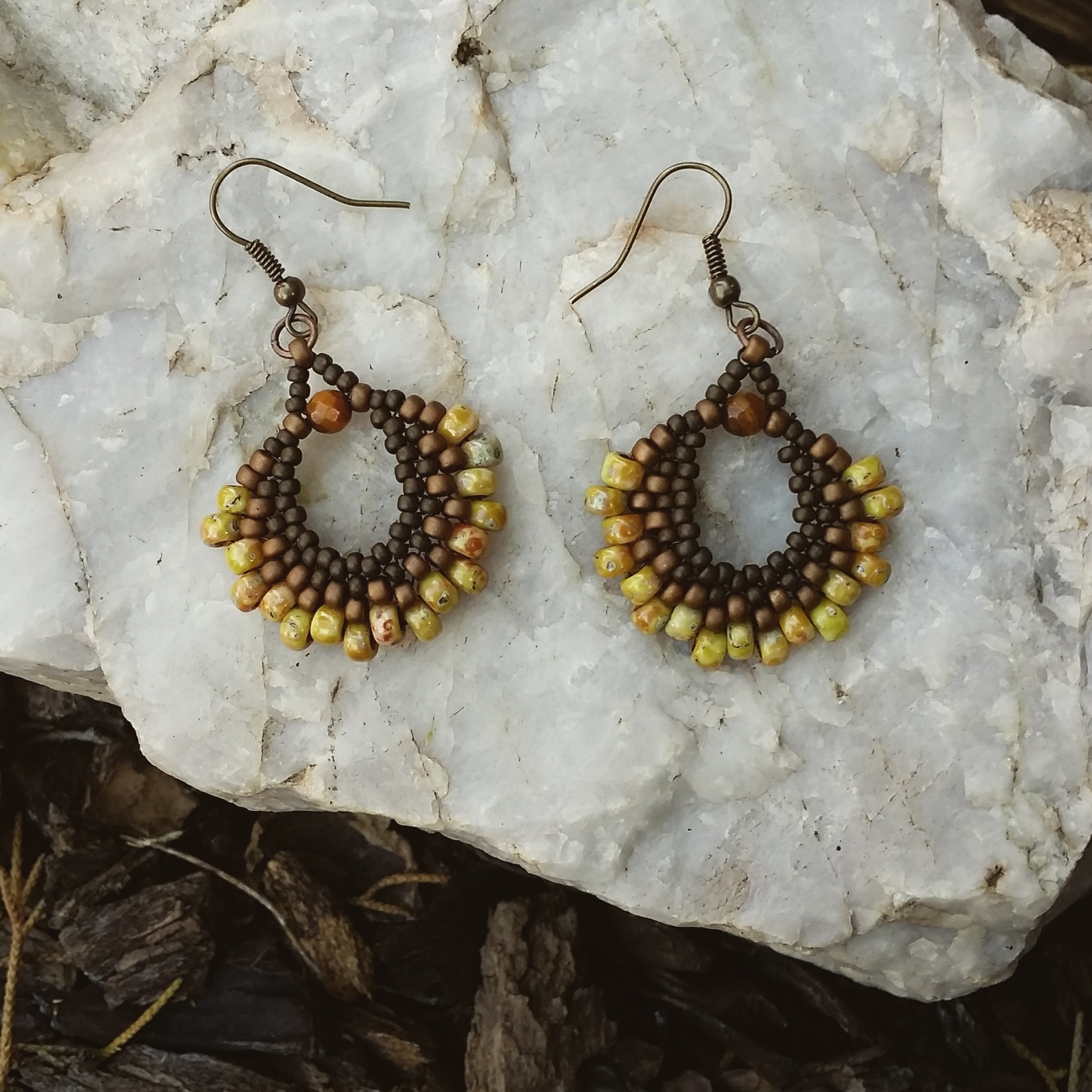 gold merida rural earrings moroccan matte products