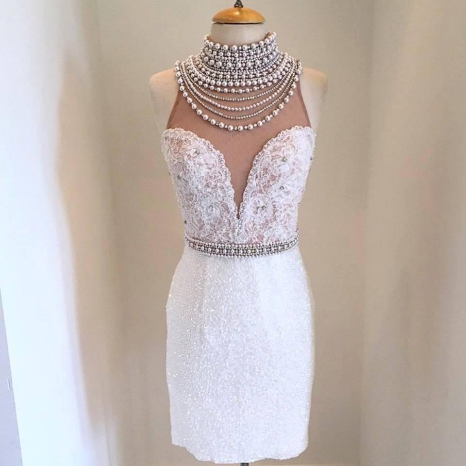 Solo Dress White Homecoming Dress,Princess Homecoming Dresses,Sequin ...