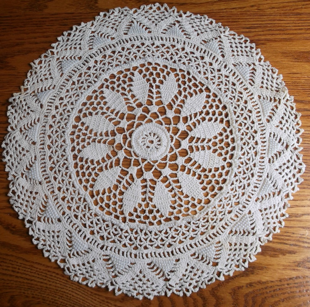 Crochet Round Doily Pattern with beads DIY, Elegant Victorian Charm ...