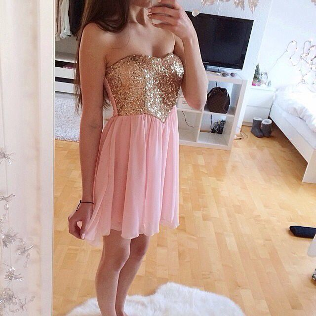 Solo Dress Pink Homecoming Dress,Homecoming Dresses,Beading ...