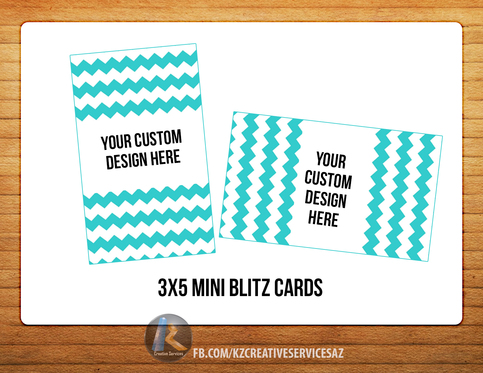Acti-Labs 3x5 mini BLITZ CARDS CUSTOM DESIGN · KZ Creative ...