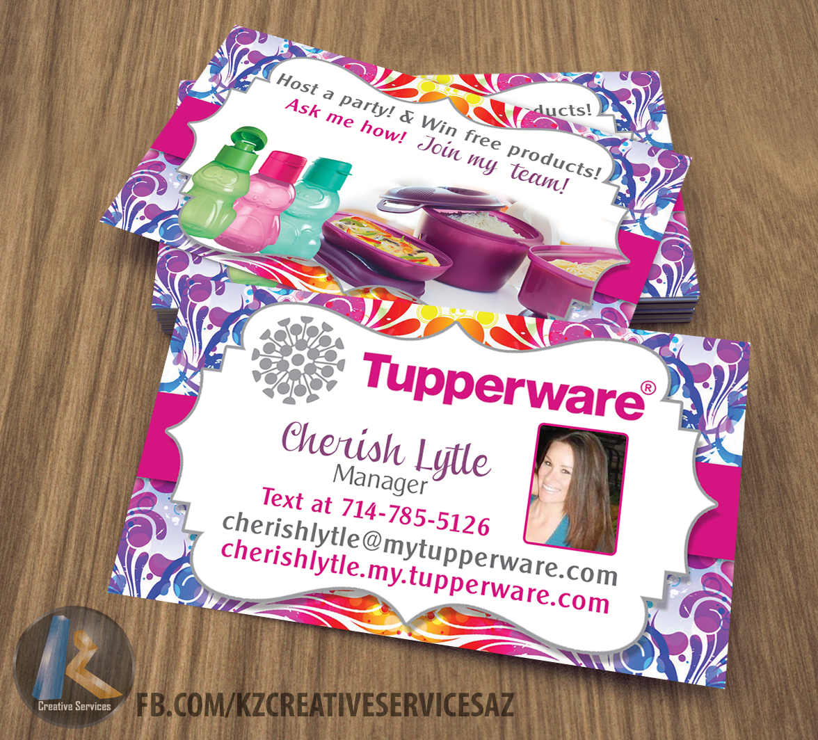 tupperware business cards style 1 - Tupperware Business Cards