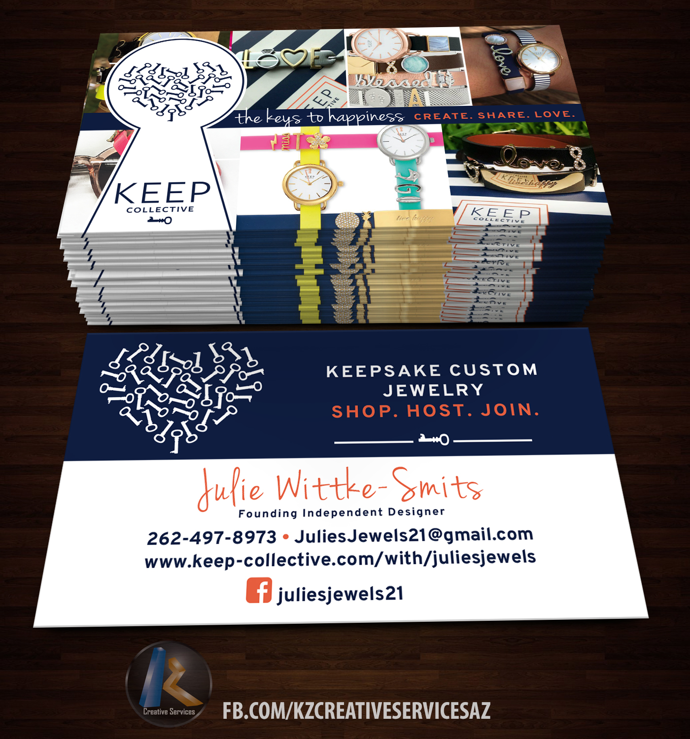 KEEP COLLECTIVE Business Cards style 2 · KZ Creative Services