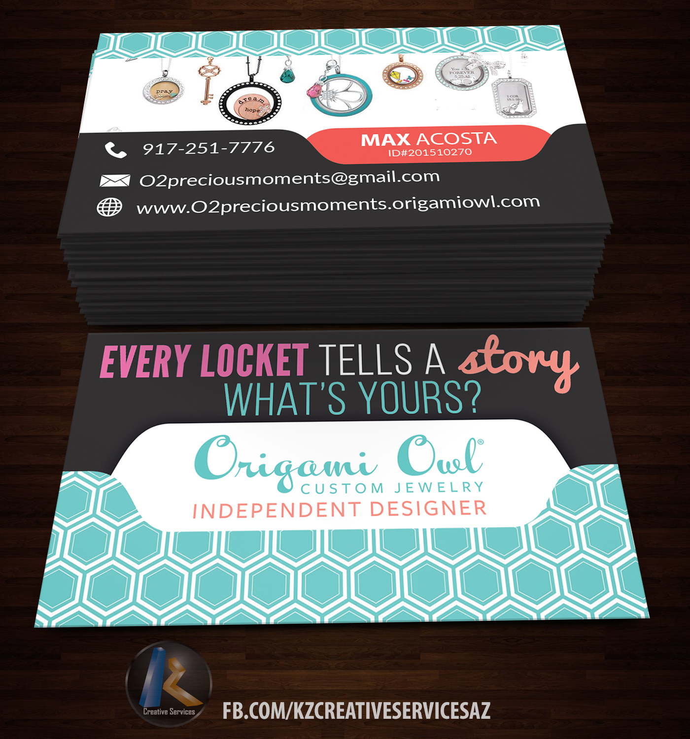 Origami Owl Business Cards Style 1 Kz Creative Services Online