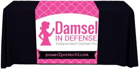 Damsel In Defense Table Runner 183 Kz Creative Services