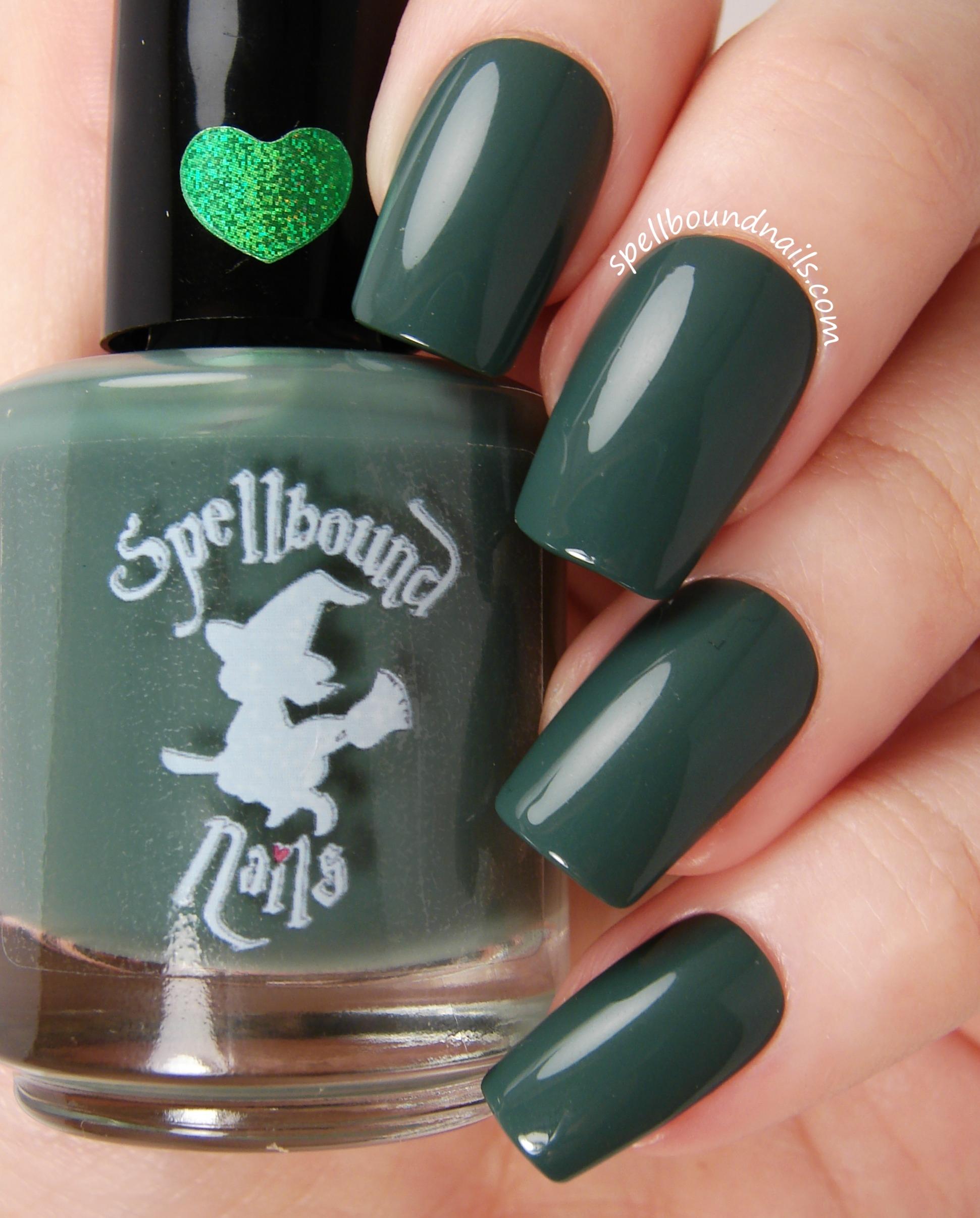 Salamander - Dark Green Creme Nail Polish · Spellbound Nails ...