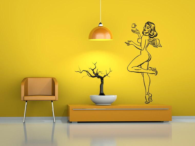 Walking Dead Promotions | Nude Angel Pinup girl Wall art | Online ...