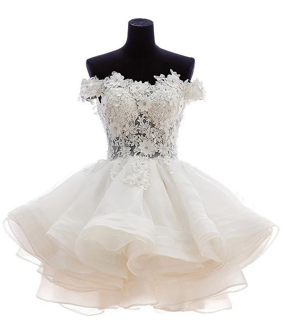 Short prom dress,white homecoming dress,homecoming dress with ...