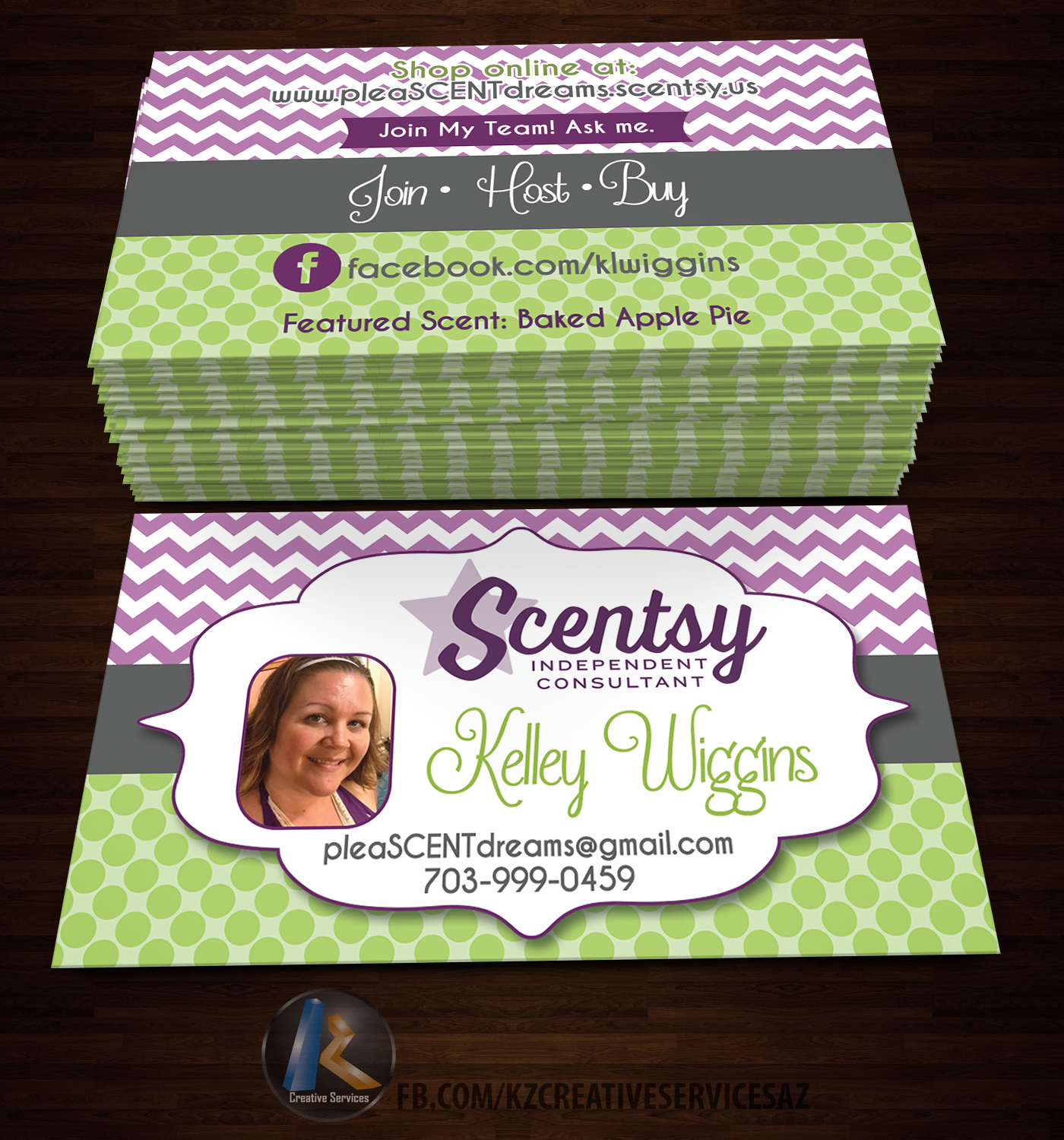 Scentsy Business Cards style 3 KZ Creative Services Online Store