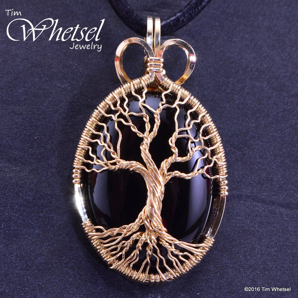 Custom 14k gold fill wire wrap tree of life onyx pendant handmade custom 14k gold fill wire wrap tree of life onyx pendant handmade jewelry by tim aloadofball Images