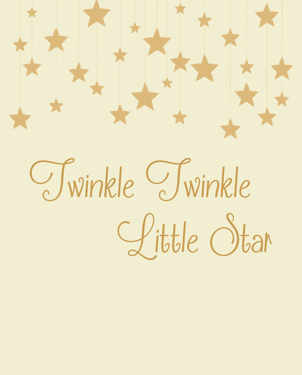 Twinkle Little Star Print Color Options