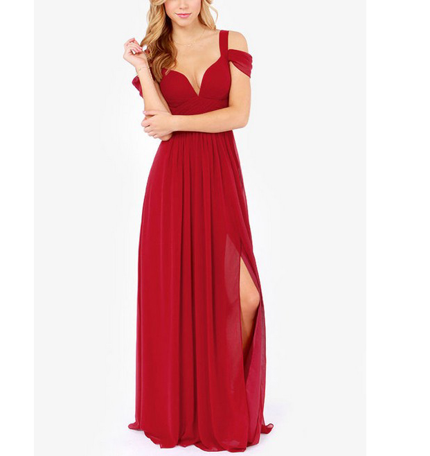 Red Carpet Off The Shoulder Long Maxi Prom Dress,xp84 · Special For ...