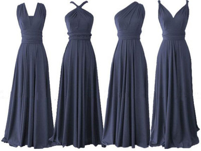 Navy blue bridesmaid dress cheap
