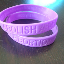 """Abolish Abortion"" Wristband"
