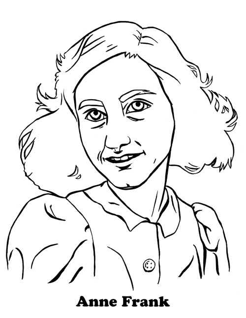 Ann Frank Free Colouring Pages Frank Coloring Pages