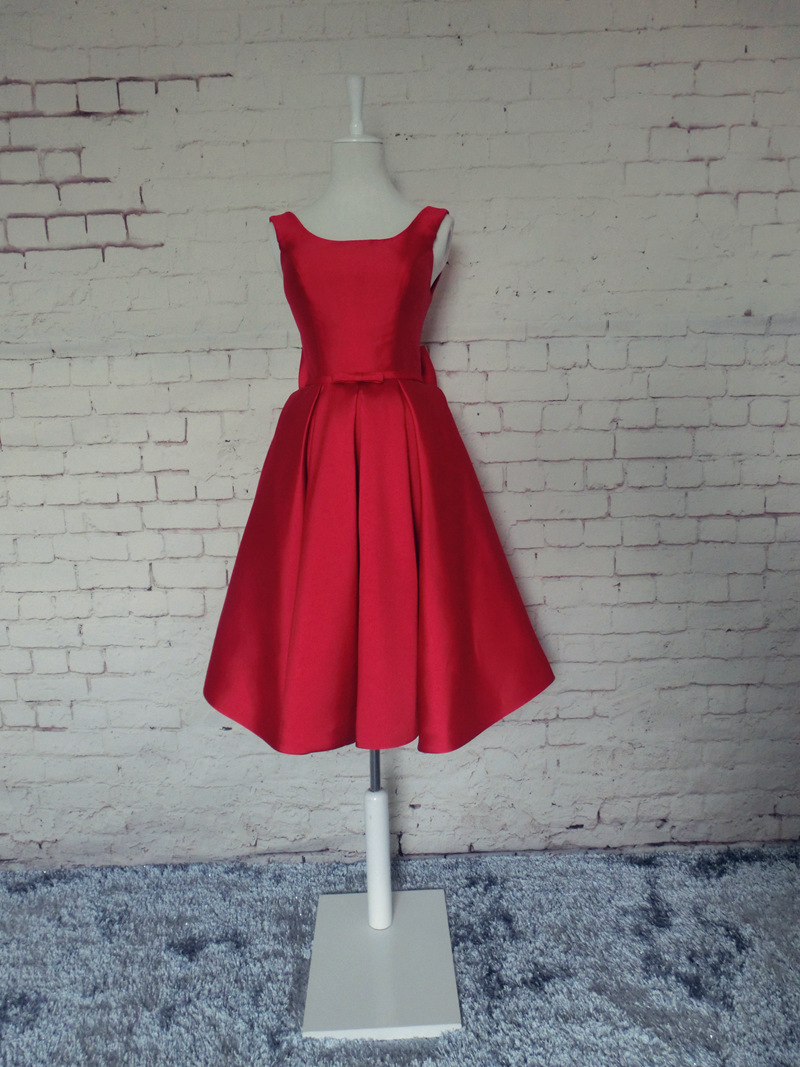 J114 Satin Homecoming Dress,Red Homecoming Dress,Homecoming Dress ...