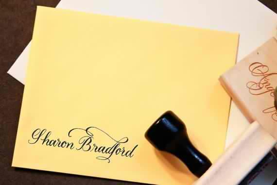 custom calligraphy name stamp your name handwritten