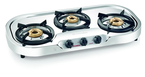 Captivating 3 Burner Deluxe Gas Super Stove