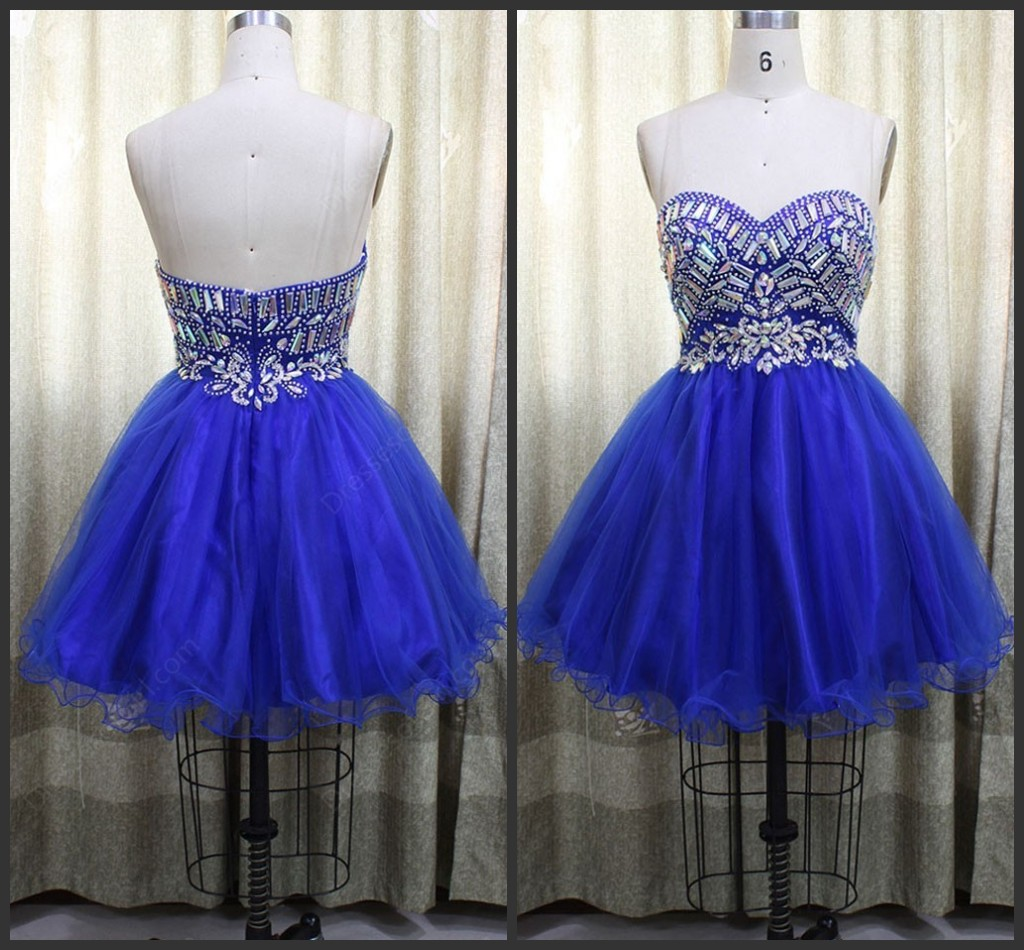 Sweetheart Pretty Beading A-Line Homecoming Dress,Short Prom Dresses ...