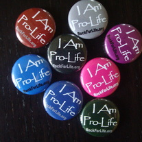 """I Am Pro-Life"" Button (Multiple Colors)"