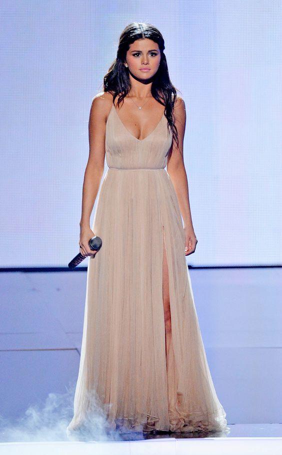 Celebrity Dress A Line Spaghetti Straps Ruched Chiffon Red Carpet