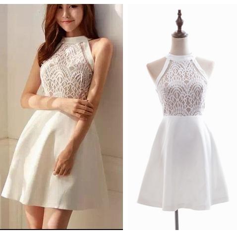 Little Cute | Cute A-line lace short prom dress,homecoming dresses ...