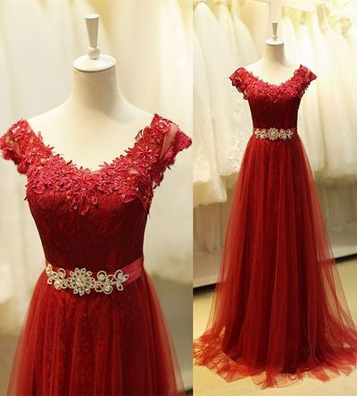 Princess Prom Dresses With Lace Bodice Prom Dress Burgundy