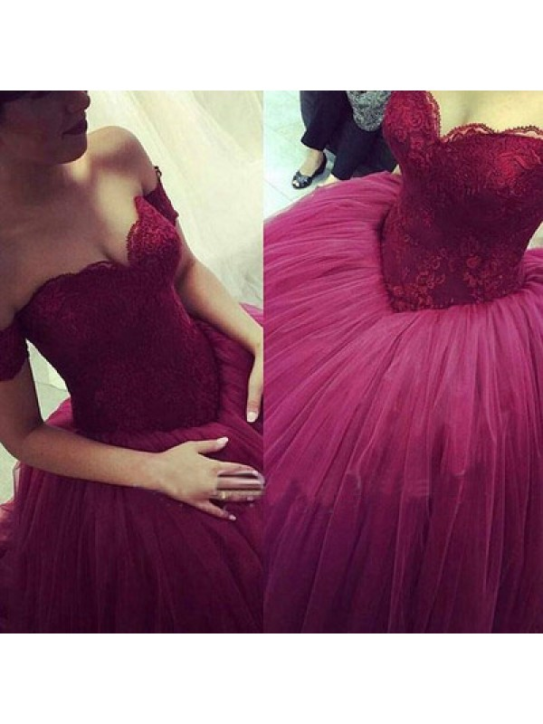 Long Prom Dress,ball gown dress,off shoulder prom dress,gorgeous ...