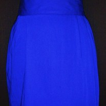 Vintage High Waisted Pencil Skirt (Cobalt) Size 3/4