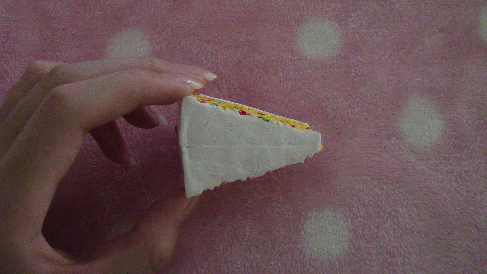Homemade Confetti Cake Slice Squishy ? Kawaii Meg ? Online Store Powered by Storenvy