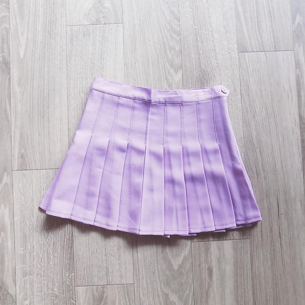 pastel lilac pleated skirt 183 pastel wardrobe 183