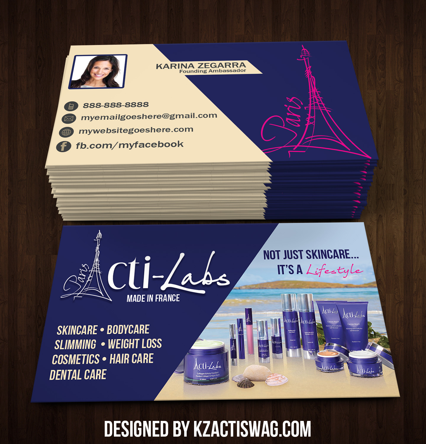 acti labs business cards 10 · kz creative services · online
