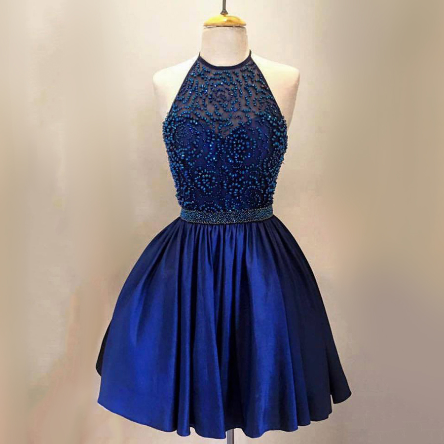 Royal Blue Graduation Dress
