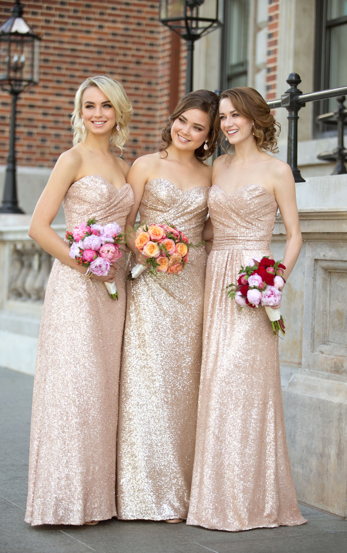 Sparkly strapless rose gold long sequins bridesmaid dress modsele sparkly strapless rose gold long sequins bridesmaid dress ombrellifo Images