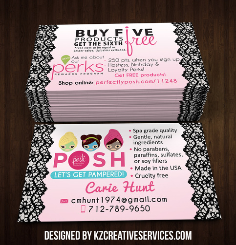 perfectly posh business cards 27 kz creative services online store powered by storenvy. Black Bedroom Furniture Sets. Home Design Ideas