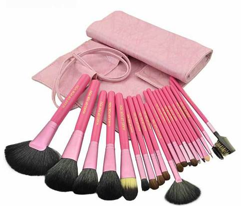 goat Pink Sets natural Brushes 20   makeup animal Makeup hair natural Pcs brushes hair goat Kits  Cosmetic