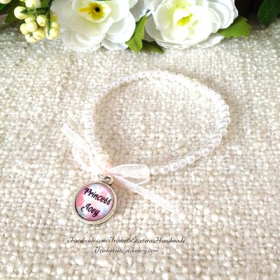 "Customise your ""princess joey"" flower girl bracelet"