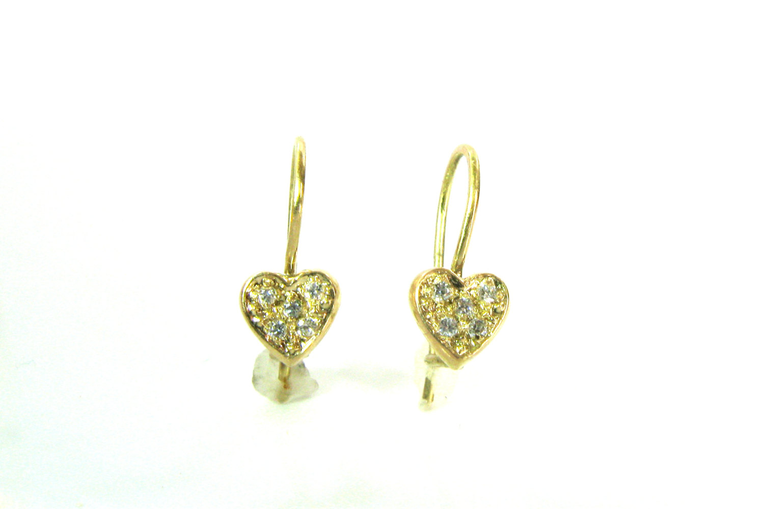 14K Gold Earrings For A Girl, handmade gold jewelry for a child ...