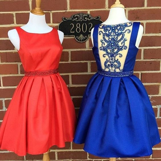 Cheap Homecoming Dresses Red Prom Dresses Beading Homecoming Dress