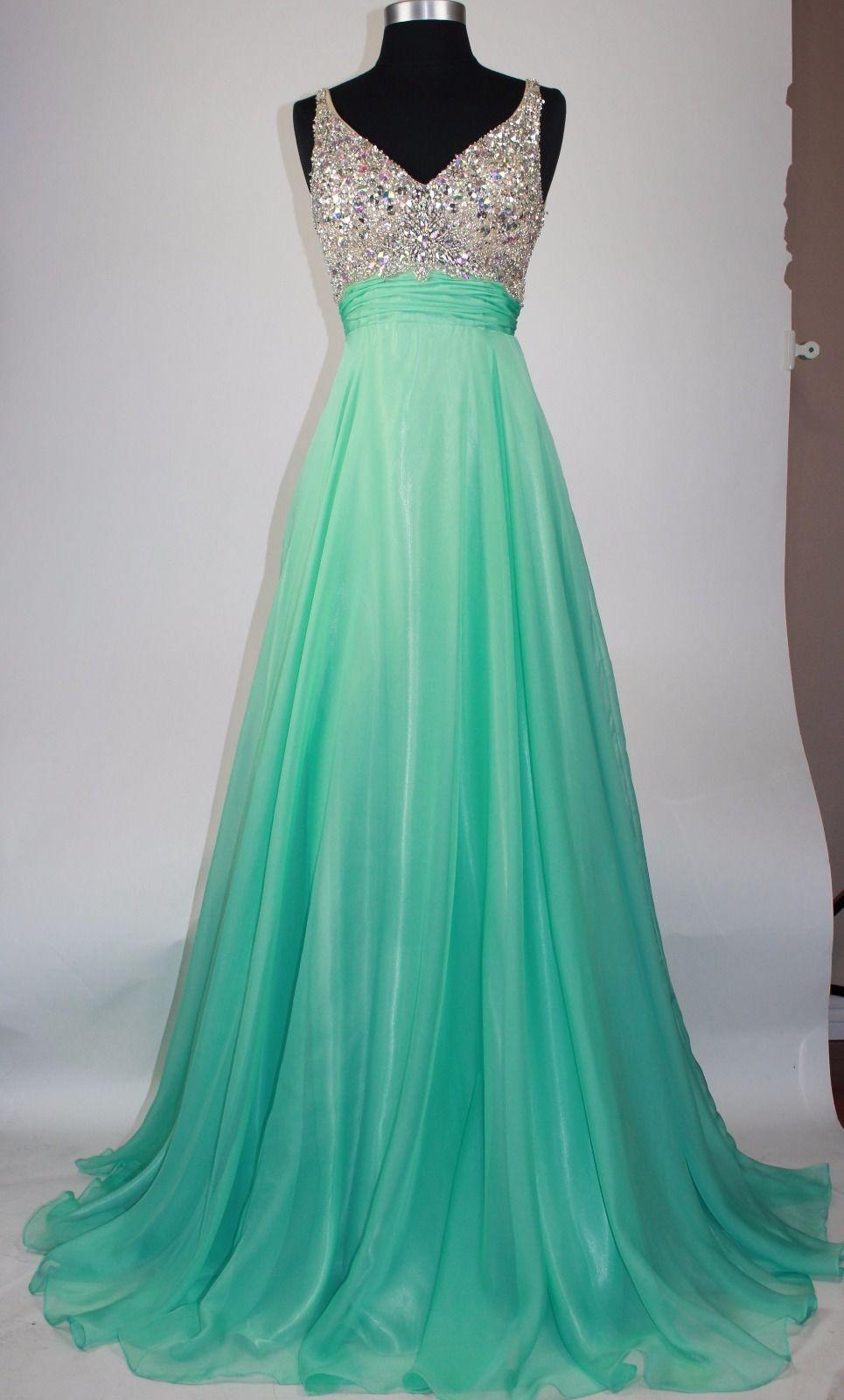 V-Neck Backless Beading Prom Dress,Evening Dress,Prom Dresses,BG168 ...