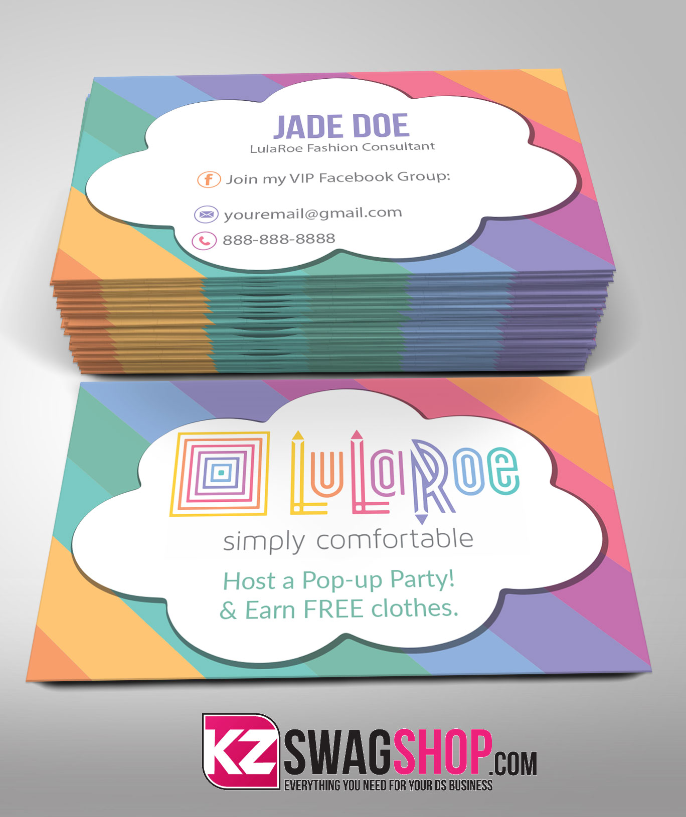 LulaRoe Business Cards 3 · KZ Creative Services · line Store