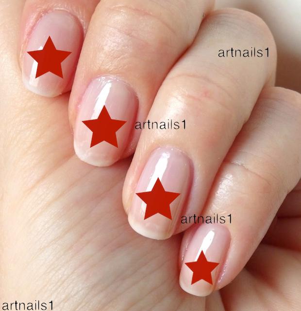 Red Star Nail Art Decals Silhouette Manicure Mani Pedi Pastel Goth ...