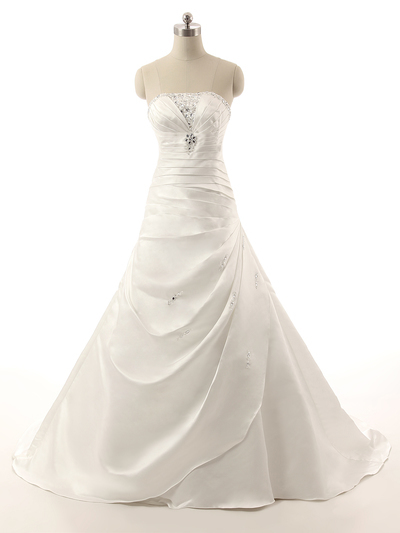 A9 New Designer, Strapless Wedding Gowns, Off the shoulder Beading ...