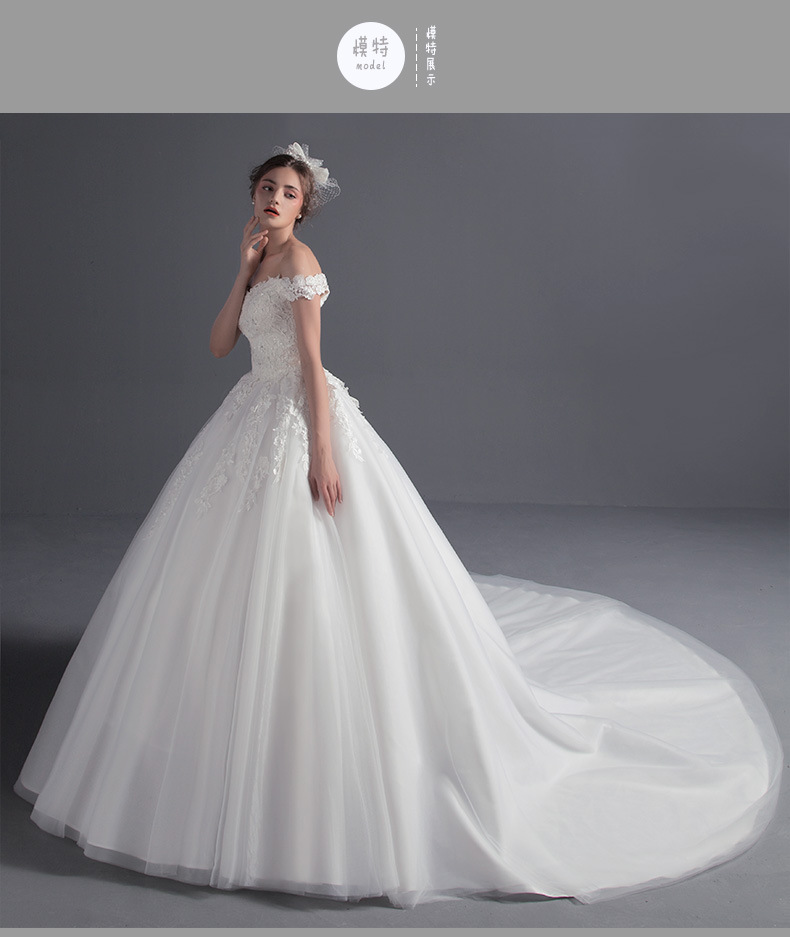 A21 Plus Size Bride Wedding Dress New Fashion White Lace Long Tail V ...