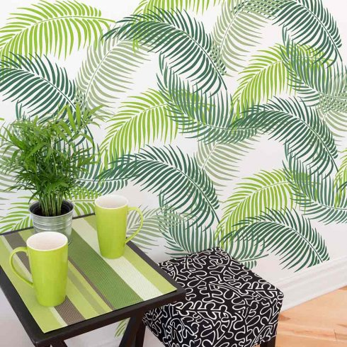 High Quality ... Palm Frond Stencil   Tropical Wall Art Design For An Easy And Quick  Room Transformation ...