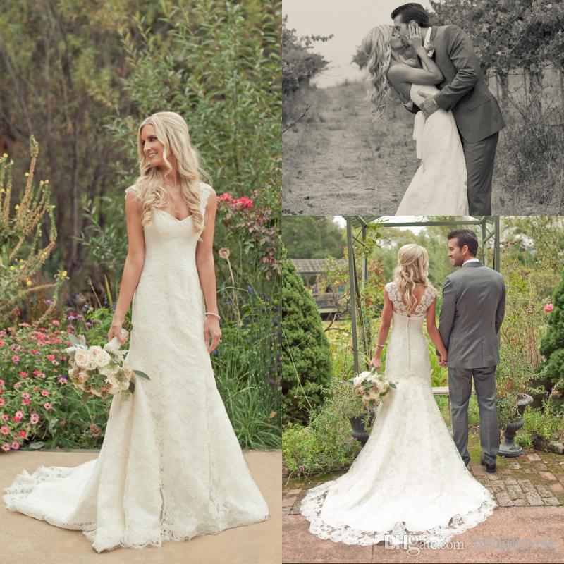 Trumpet Lace Wedding Dress V Back 2056 · Onlyforbrides · Online ...