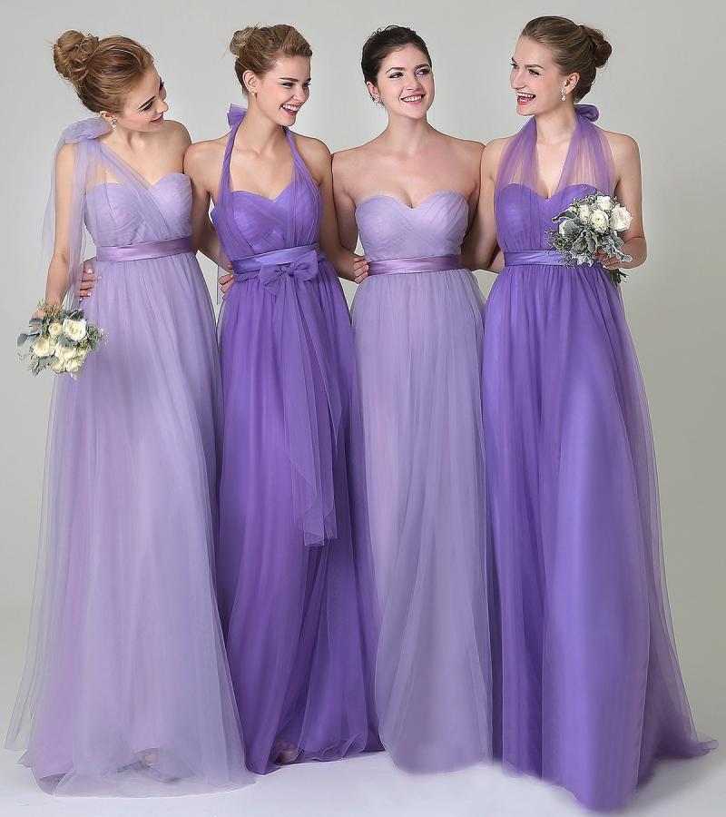 Convertible bridesmaid dresses, tulle junior bridesmaid dresses ...